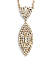 Sandy Hyun - Crystal Pendant Drop Necklace - Lyst