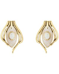 House of Harlow 1960 - Howlite Risha Clip On Earrings - Lyst