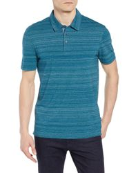 49db373d Lyst - BOSS Place Slim Fit Space Dyed Polo in Gray for Men