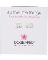 Dogeared   Sterling Silver 'it's The Little Things' Elephant Stud Earrings   Lyst