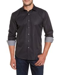 Bugatchi - Shaped Fit Sport Shirt - Lyst