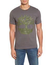 Timberland - Textured Camo Graphic T-shirt - Lyst