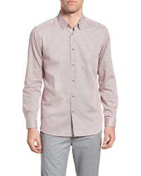Ted Baker - Holic Trim Fit Geometric Sport Shirt - Lyst
