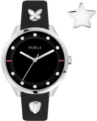 Furla - Women's Pin Crystal Accented Analog Quartz Watch, 38mm - Lyst