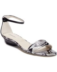 Giorgio Armani - Snake Embossed Ankle Strap Sandal - Lyst