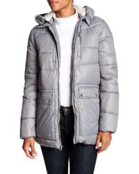 Kenneth Cole | Hodded Down Jacket | Lyst