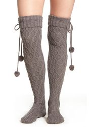 UGG - Ugg(r) Sparkle Cable Knit Over The Knee Socks - Lyst