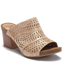 Söfft - Magnolia Perforated Open Toe Mule - Lyst