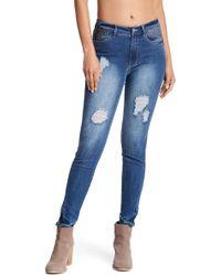 Philosophy Apparel - Vintage Washed Embellished Distressed Jeans - Lyst