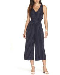 a4318b889c2 1901 - Pinstripe Tie Back Crop Jumpsuit (regular