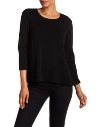 MILLY - Reversible Pullover Sweater - Lyst