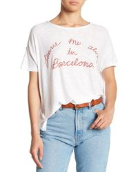 Michelle By Comune - Witty Words Hi-lo Tee - Lyst