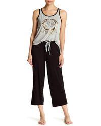 Juicy Couture - Pajama Logo Tank Top & Pants 2-piece Set - Lyst