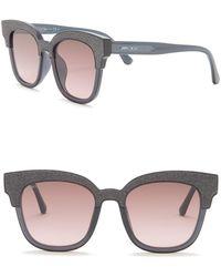 3caf37230af8 Jimmy Choo - Mayela 50mm Glitter Square Sunglasses - Lyst