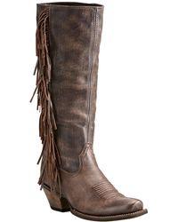 Ariat - Leyton Western Fringe Tall Boot - Lyst