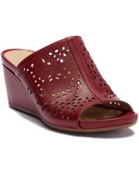 6ddb24c07f3 Naturalizer - Charlotte Perforated Wedge Sandal - Wide Width Available -  Lyst
