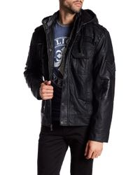 Affliction - Reflection Faux Shearling Lined Hooded Jacket - Lyst