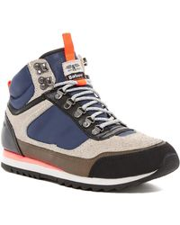 Barbour - Highlands Mid Top Sneaker - Lyst