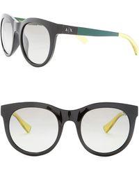 Armani Exchange - 52mm Round Sunglasses - Lyst