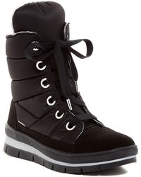 Jog Dog - Waterproof Channel Quilted Lace Up Trainer Boot - Lyst