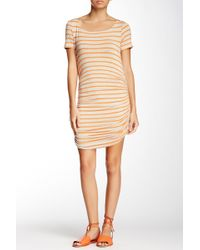Amour Vert - Connie Striped Ruched Dress - Lyst
