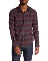 Vince - Window Shadow Plaid Shirt - Lyst