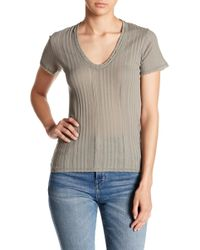 Project Social T - Textured Scoop Neck Tee - Lyst