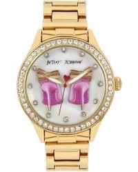 Betsey Johnson - Women's Czech Crystal Embellished Watch, 42mm - Lyst