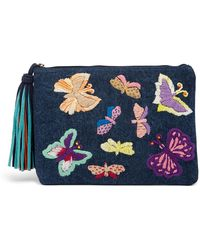 Raj - Embroidered Butterfly Clutch - Lyst