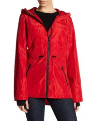 MICHAEL Michael Kors - Quilted Hooded Anorak - Lyst