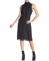 W118 by Walter Baker - Gloria Polka Dot Mock Neck Dress - Lyst
