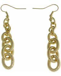 1AR By Unoaerre - Corrugated Drop Link Dangle Earring - Lyst