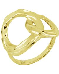 Bony Levy - 14k Yellow Gold Hammered Interlocked Stacking Ring - Size 6.5 - Lyst