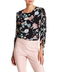 Vince Camuto - Floral Gardens Drawstring Sleeve Blouse (regular & Petite) - Lyst