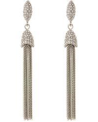 Vince Camuto - Cz Chain Tassel Earrings - Lyst