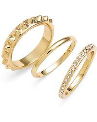 Rebecca Minkoff - Crystal Ring Set - Lyst