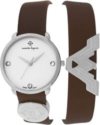 Nanette Lepore - Women's Wonder Woman Double Wrap Swarovski Crystal Embellished Leather Watch - Lyst