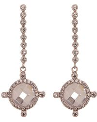 Freida Rothman - Cz Accent Crown Drop Earrings - Lyst