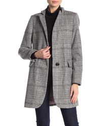 Lucky Brand - Long Plaid Coat - Lyst
