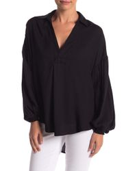Mustard Seed - Hi-lo Relaxed Blouse - Lyst