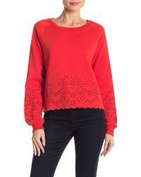 Rebecca Minkoff - Morgan Floral Embroidered Sweatshirt - Lyst