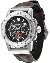 Timberland - Men's Claremont Leather Strap Watch, 44mm - Lyst