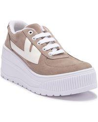 Jeffrey Campbell - Suede Platform Sneaker - Lyst