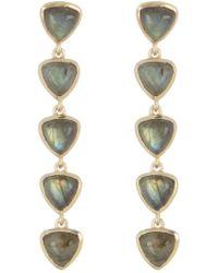 Sole Society - Stone Linear Drop Earrings - Lyst