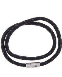 Ben Sherman - Stainless Steel Wrap-around Cord Bracelet - Lyst