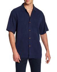 Tommy Bahama - Short Sleeve Tiki Palm Silk Original Fit Shirt - Lyst
