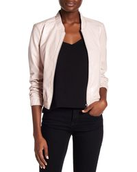 Blanc and Noir - Genuine Leather Bomber Jacket - Lyst
