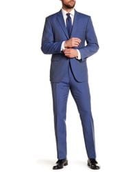 Perry Ellis - Solid Blue Notch Lapel Suit - Lyst