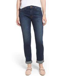 Caslon - (r) Boyfriend Jeans (dark Soft) - Lyst