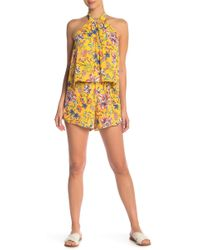 L*Space - Kelly Pacific Bloom Romper Cover-up - Lyst
